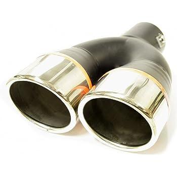 Akhan ER026 Embout de Sortie Enjoliveur Pot dEchappement En Acier Inoxydable 2x 225x63mm d=36-47