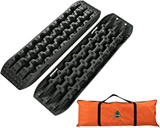 Boar Offroad New Recovery Traction Tracks Sand Mud Snow Track Tire Ladder 4WD (Black)