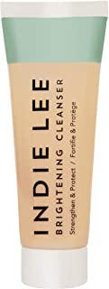 Indie Lee Brightening Cleanser - Exfoliating Gel-to-Scrub Face Wash + Makeup Remover with Vitamin C + Antioxidants to Help...