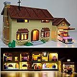 K99 Lámpara Kit de iluminación LED Sistema del Bloque de Lego 71006 Simpson House y Compatible con 16005 (sin incluir Lego Modelo)