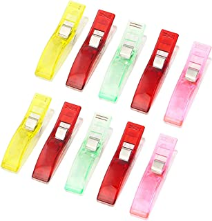 EORTA 50 Pcs Plastic Sewing Clips Multicolor Wonder Clips Patchwork Fixed Clips for Craft DIY Fabric Quilting Knitting Cro...