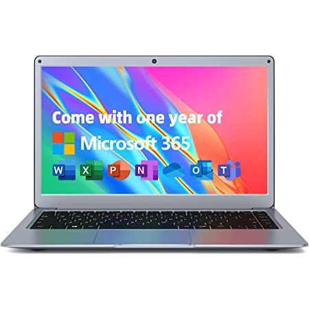 """Jumper Laptop 13.3"""" Full HD 1920 x 1080 IPS 4GB RAM 128GB ROM Windows 10 Celeron Processor Thin and Light Laptop Free Office 1 Year Dual Band 5GHz WiFi,Bluetooth, with Webcam"""