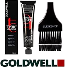 Goldwell Topchic Permanent Hair Color, 2.1 oz tube (with Sleek Tint Color Brush) (7NN Mid Blonde Extra Cover Plus+)