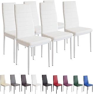 Albatros 2699 Milano Set de 6 sillas de Comedor Blanco