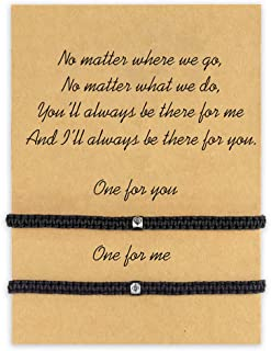 MANVEN Pinky Promise Distance Matching Bracelets for Mother Daughter Best Friends Him and Her