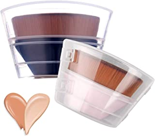 2 PACK Foundation Makeup Brush Flat Top, HOME-MART Petal-shaped flawless Foundation Brush, Make Up Brush With Storage Box,...