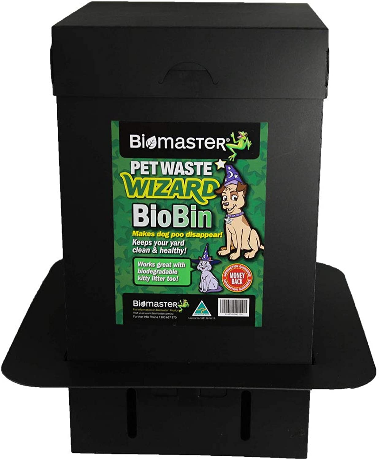 """Pet Waste Wizard BioBin Pet Waste Disposal Unit, Waste Digester (100% Recycled Material, 10"""" Width x 18"""" Height)"""