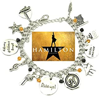Superheroes Hamilton Broadway Musical Theme Multiple Charms Bracelet w/Gift Box