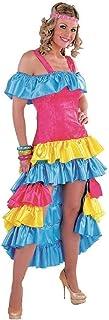 narrenkiste M213177-4-XS pink-bunt Damen Brasilien Kleid Samba Kostüm Gr.XS