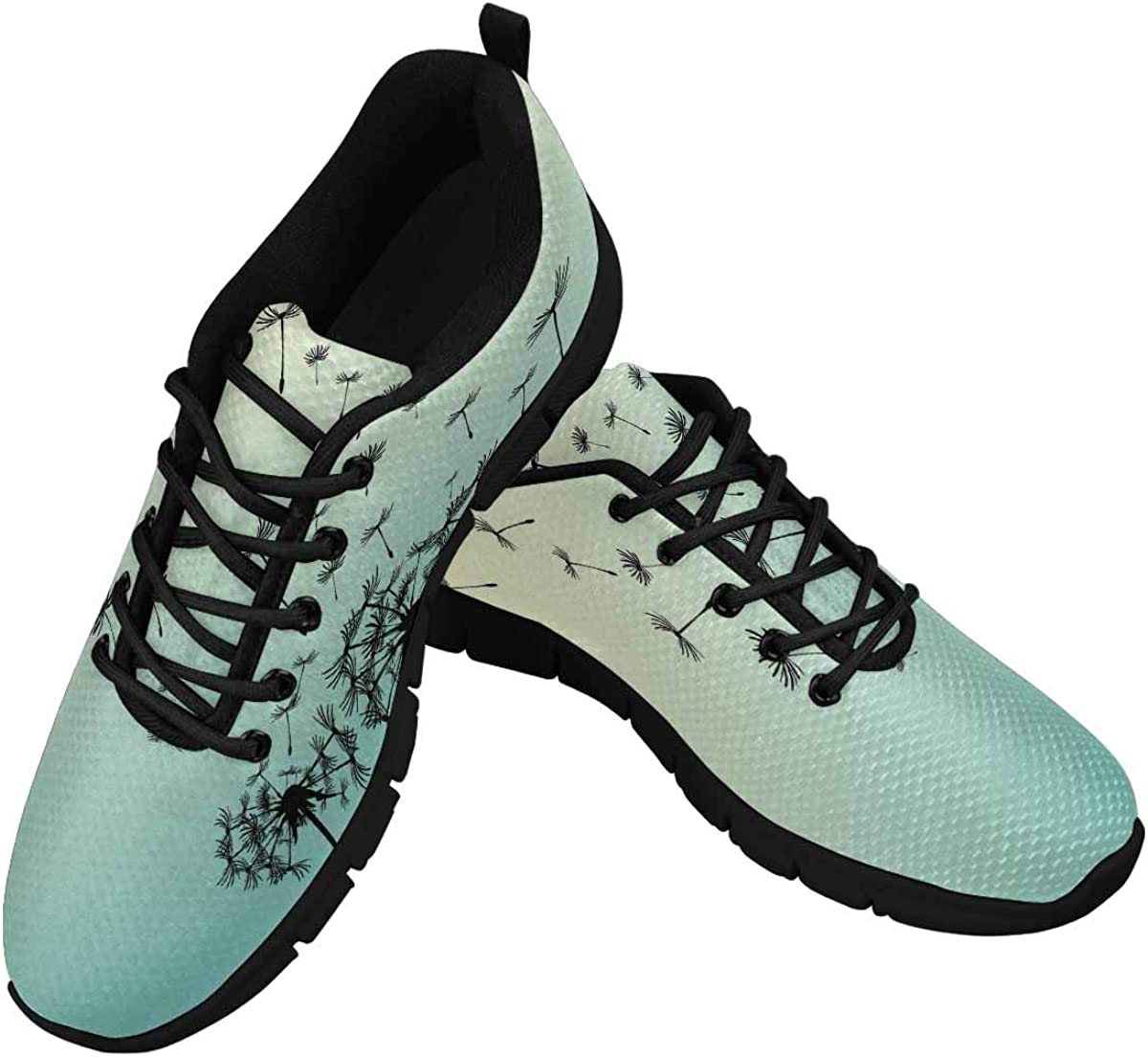 INTERESTPRINT Abstract Dandelions Women's Lightweight Sneakers Mesh Breathable Yoga Shoes