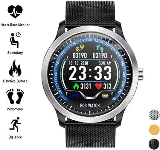 Suivi d'activité Surveillance intelligente ECG ECG + PPG Sports IP67 Imperméable HRV Rapport Tension artérielle Surveillance de la fréquence cardiaque et du sommeil avec Podomètre Bracelet intelligent