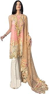فستان هندي باكستاني الخوخ للنساء المسلمين بوليوود لون القطن المرج سلوار مستقيم رداء حفلات احتفالية تصميم 6068