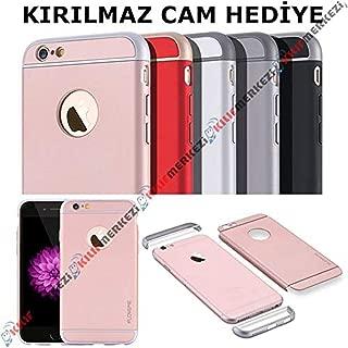 İPhone 6 Plus - 6S PLUS Kılıf 3in1 Rubber Kapak Modeli + Apple İphone 6S PLUS Kırılmaz Cam Koruyucu