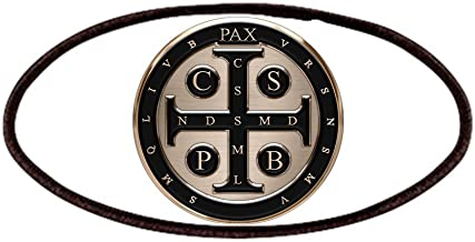 CafePress St. Benedict Medal Patches Patch, 4x2in Printed Novelty Applique Patch