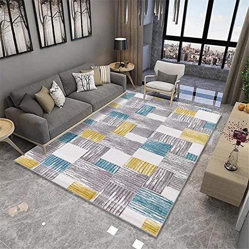 """alfombras Exterior Alfombra de Sala de Estar Gris Azul Amarillo protección del Medio Ambiente Suave y cómoda Antideslizante para alfombras alfombras de Salon Grandes 160X200CM 5ft 3"""" X6ft 6.7"""""""