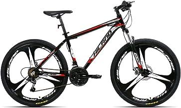 Hiland 26'' Aluminum Mountain Bike with 17'' Frame Disc-Brake Kickstand 21 Speeds,Multiple Colors