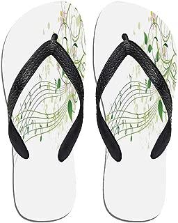 TecBillion Mushroom Decor Thong Flip Flops,Spring Forest with,for Men&Boys