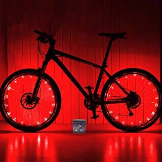 Xyemao Led Bike Wheel Lights, (2 Tire Pack) Waterproof Bright Bicycle Light Strip, Ultimate Safety & Style Lights, Cool Kids Bike Accessories, 3 AA Battery(Include)