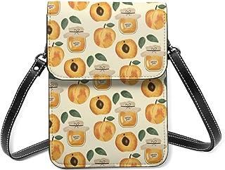 Wellay Apricot Jam Crossbody Handytasche, Leder, Handtasche, Kartenfächer, Brieftasche, Handytasche, Clutch