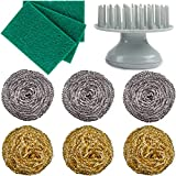 sungabe Stainless Steel Scrubber Stainless Steel Scrubber Non Scratch - 6 Pcs Stainless Steel Metal Wool Sponges