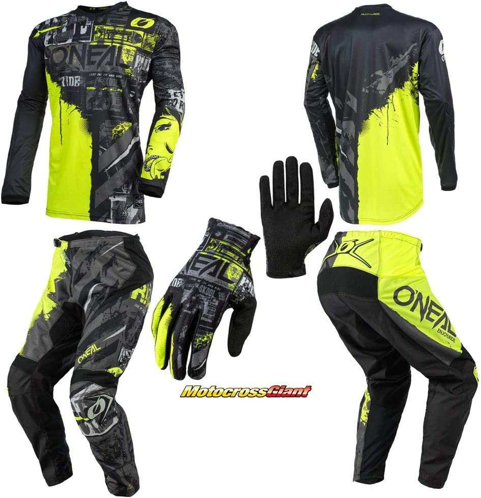 Oneal Outlet ☆ Free Shipping Youth Element Ride Neon Jersey Combo JRSY Finally resale start YTH Pant Gloves