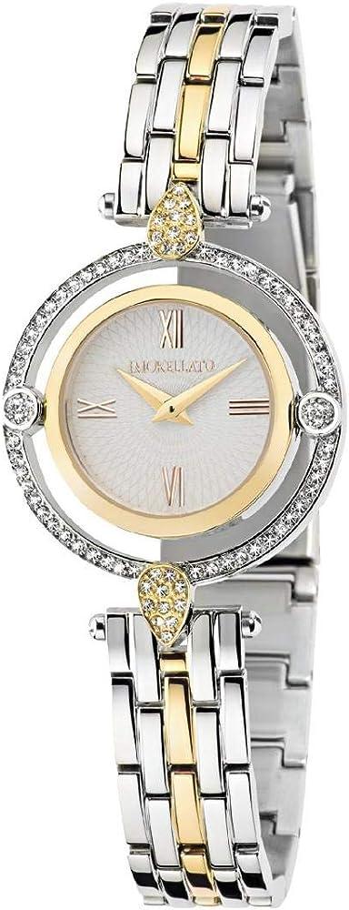 Morellato,orologio da donna,in acciaio e pvd oro,quadrante argento bianco brillante R0153121506