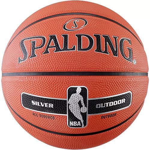 Spalding NBA Silver Outdoor - Pallone da basket (7, arancione)