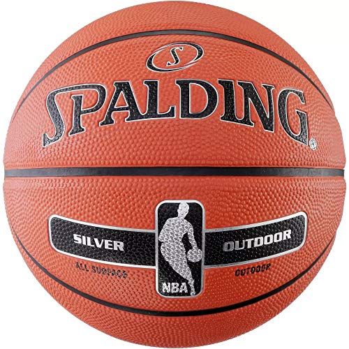 Spalding NBA Silver Outdoor - Balón de baloncesto (7), color naranja