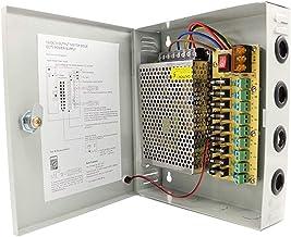 HAILI 9 Canales Salida de Puerto DC 12V 5A Caja de Fuente de Alimentación Distribuida para Seguridad de Cámara CCTV