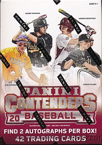 2015 Panini Contenders Baseball EXCLUSIVE Factory Sealed Retail Box with TWO(2) AUTOGRAPHS! Look for RC & AUTOS of Aaron Judge, Vladamir Guerrero Jr, Austin Riley, Ian Happ, Gleyber Torres & More!