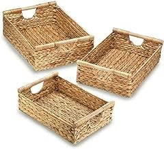 Zings & Thingz 57073450 Braided Hyacinth Nesting Basket Trio, Brown