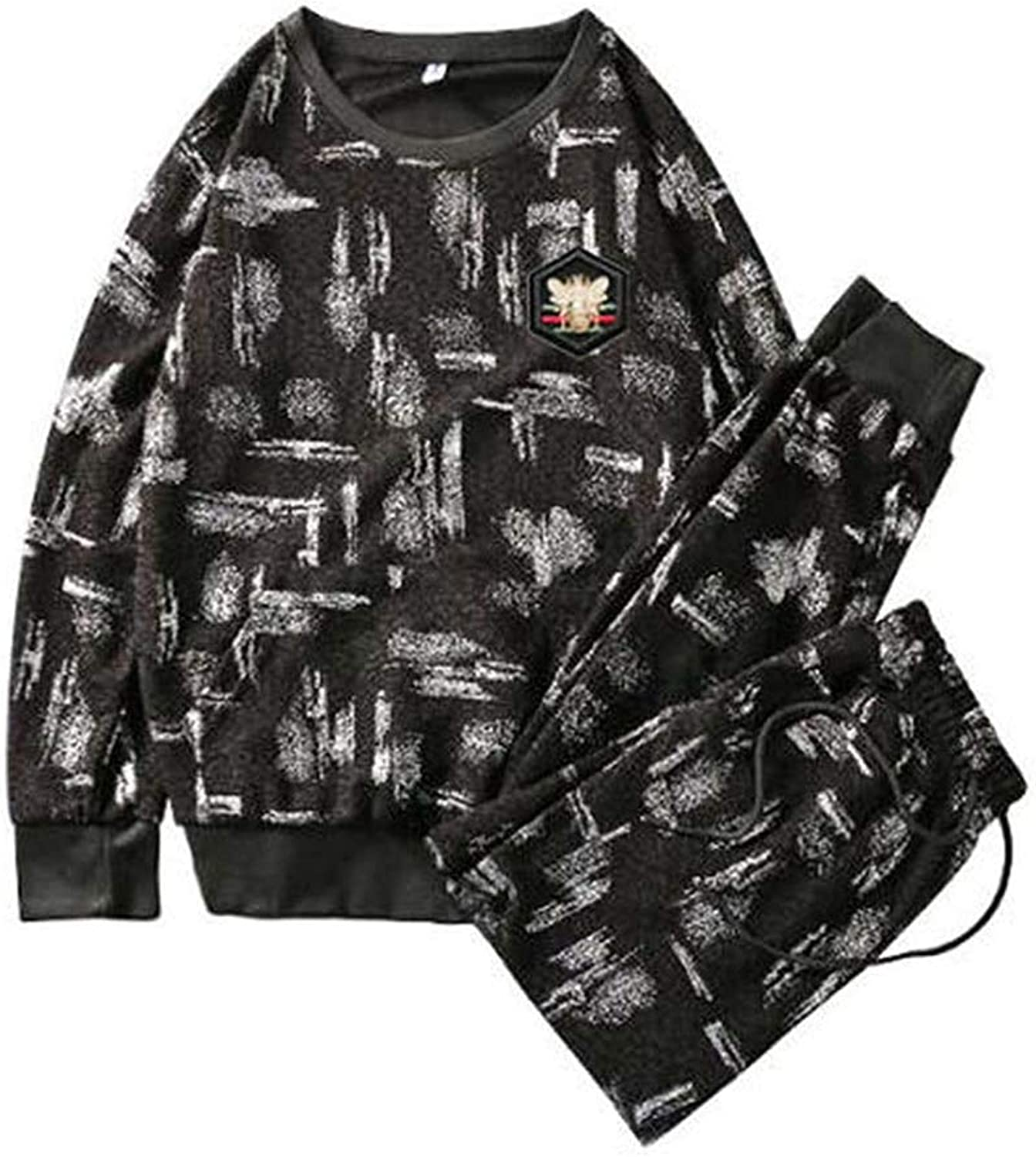 Cdon Sports Suits Print Slim Fit Young Track Suit Outwear Jogging
