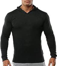 palglg Men's Bodybuilding Tapered Slim Fit Sweatshirts Active Hoodies