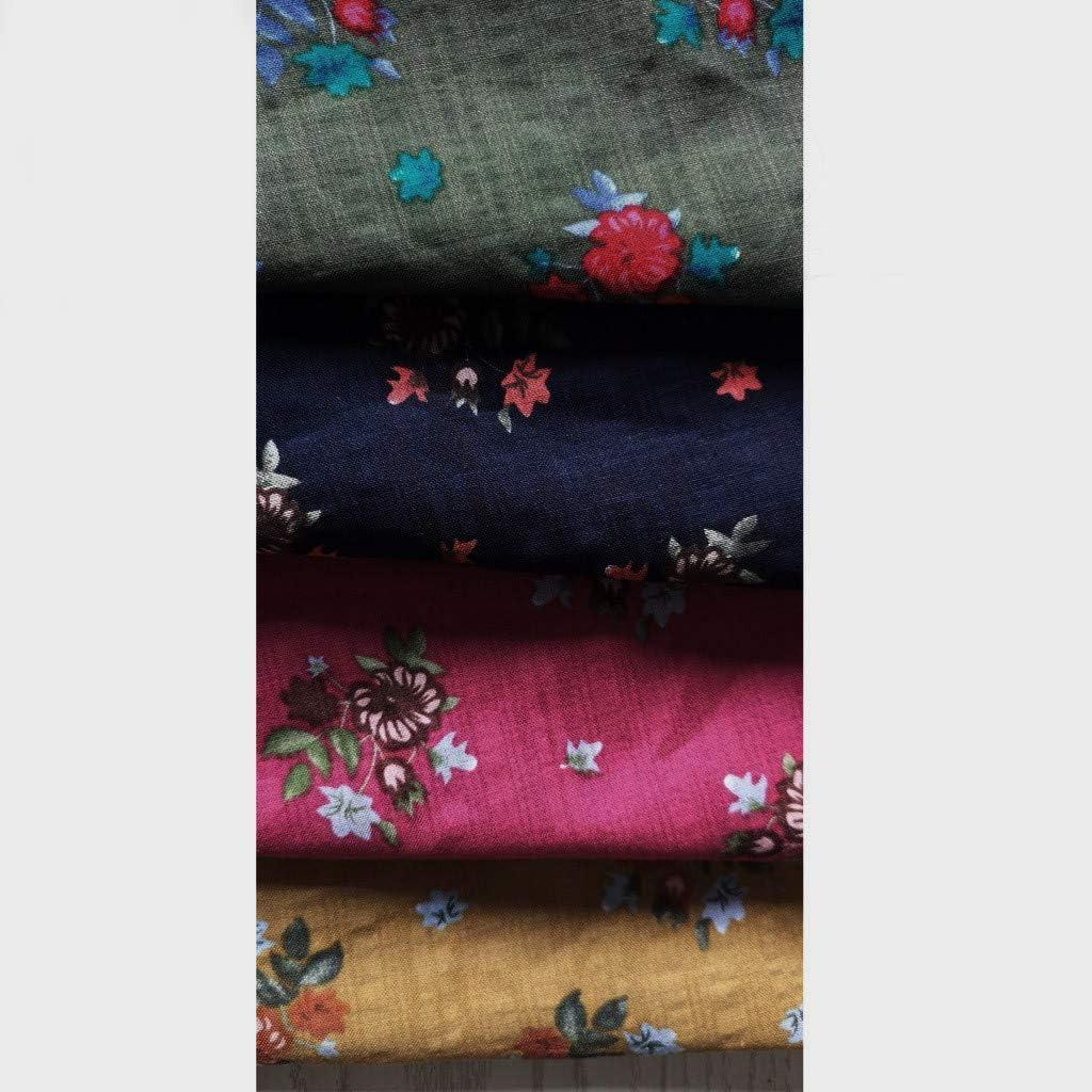 ESAILQ Damen Fledermaus Kurzarm beiläufige lose obere dünne Abschnitt Bluse T-Shirt Pullover Blau-w