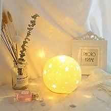 NALATI Starry Globe Nightlight for Kids,White Ceramic Ball Bedside Light