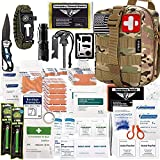 EVERLIT 250 Pieces Survival First Aid Kit IFAK Molle System Compatible Outdoor Gear Emergency Kits Trauma Bag...