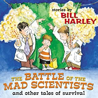 The Battle of the Mad Scientists audiobook cover art