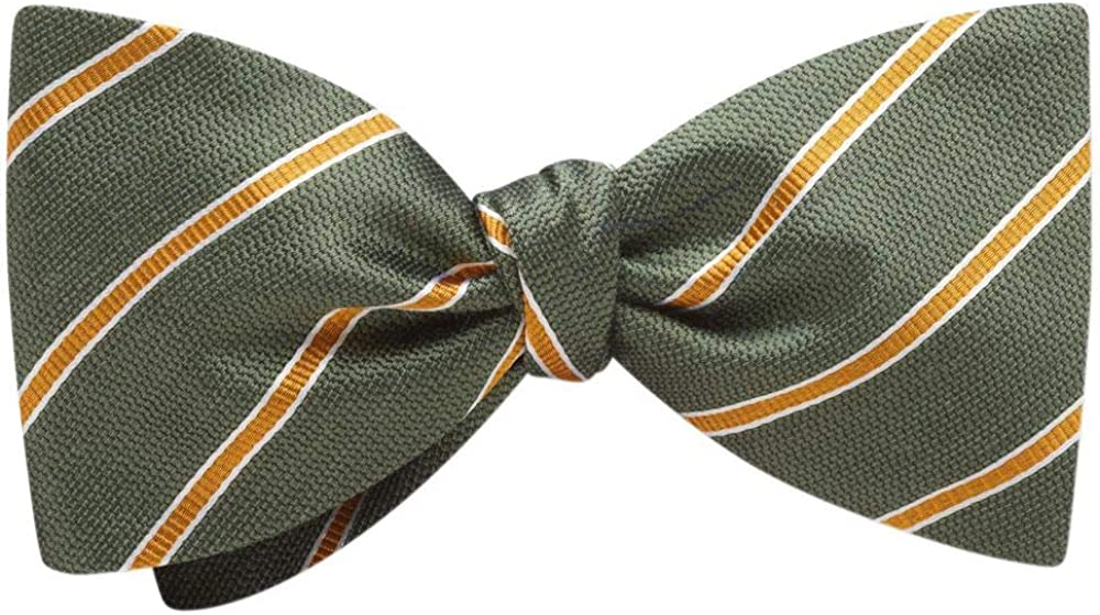 Brazow Green Striped, Men's Bow Tie, Handmade in the USA