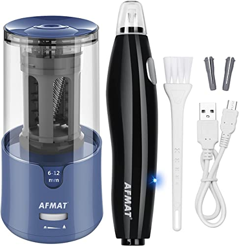 lowest AFMAT outlet online sale Electric Pencil Sharpener for Colored Pencils, Auto Stop, Super Sharp & Fast, AFMAT Electric Eraser Kit,140 Eraser Refills, Rechargeable Electric Erasers for Drafting, Drawing, Crafts, discount Arts online sale
