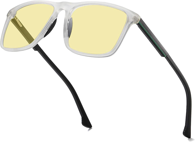 VANLINKER Gaming Glasses Computer Blue Light Blocking Glasses With Amber Tint Lens Anti Glare Reduce Eye Strain VL9552 EMPIRE