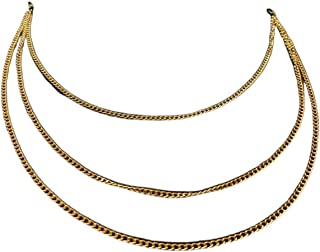 DOCE.MEX   Cadena para lentes CADENA X3 de acero dorado