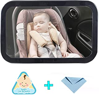 Baby Car Mirror Wide Clear View Infant Rear Facing Safe and Shatterproof
