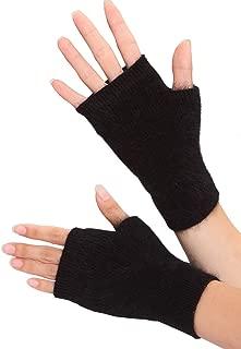 Volyer Women's Winter Mink Cashmere Half Finger Gloves Cute Fingerless Gloves Mitts Christmas Xmas Gift