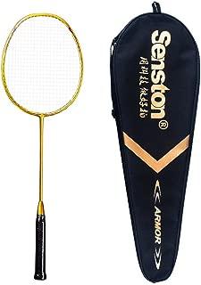 Senston N80 Graphite Single High-grade Carbon Fiber Badminton Racquet with Bag (Gold)