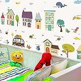 Stickers Muraux Bande Dessinée Couleur Bâtiment Maison Sticker Mural Stickers Enfants Chambres Décoration Maison Docor Salon