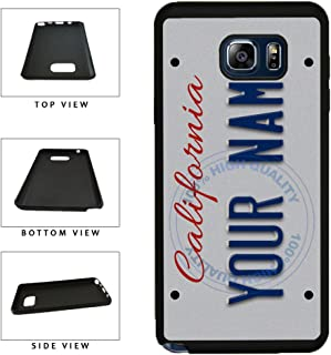 BleuReign(TM) Personalized Custom Name California State License Plate TPU RUBBER SILICONE Phone Case Back Cover For Samsung Galaxy S8