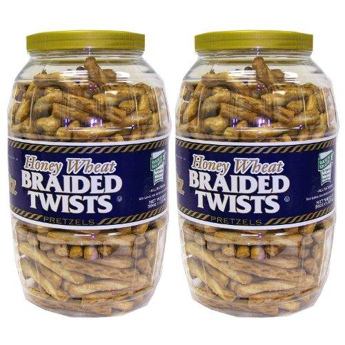 Utz Honey Wheat Twists - 36 oz. - CASE PACK OF 2