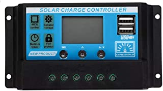 ZCN-CN DIY kit Upgraded 20A 12V/24V Auto Volt/Amp/Temp Display PWM Solar Panel Charge Controller