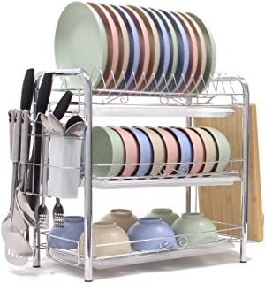 Best 3 layer dish drainer Reviews
