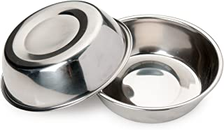 Bonza Two Piece  Replacement Stainless Steel Dog Bowls for Pet Feeding Station. For Small Dogs and Cats,12oz